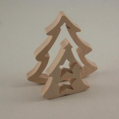 Sapin, décoration de Noël chantournée à poser