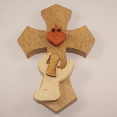 Croix avec Sainte Marguerite-Marie