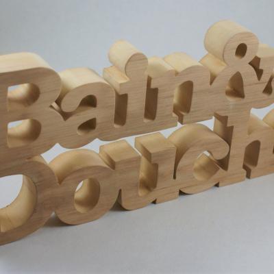 Décoration ZEN en bois pour salle de bains