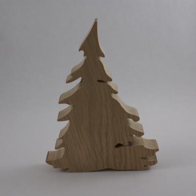 Décoration de Noël, Sapin d'Hiver, sapin en bois